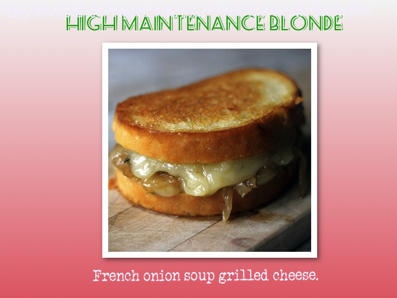french onion soup grilled cheese. lisa